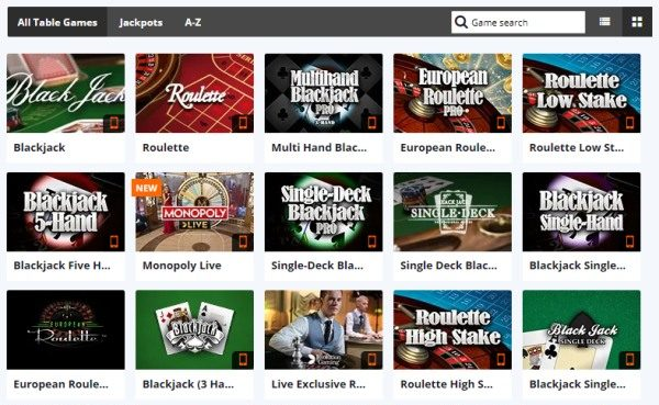 betsson casino table games