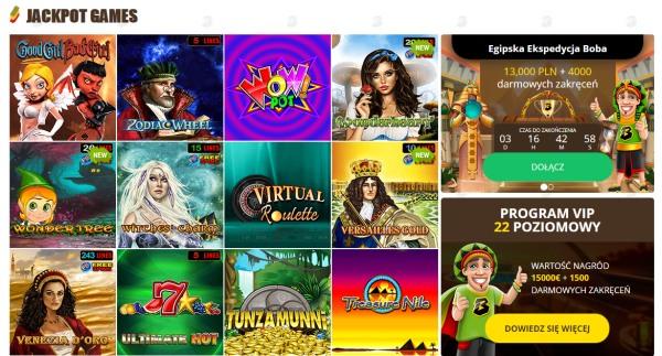 bob casino jackpot games