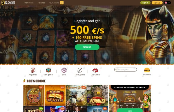 bob casino website