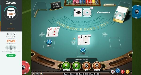 casumo blackjack