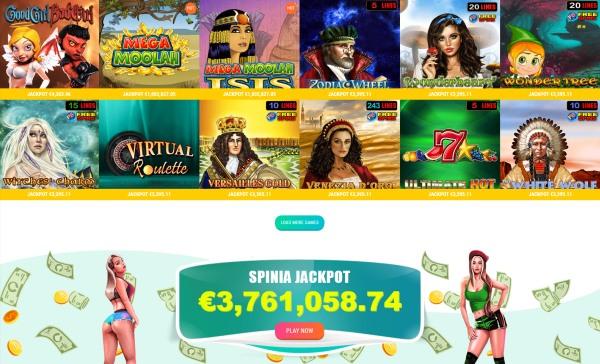 spinia casino jackpot