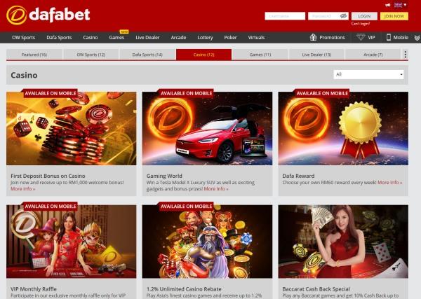 dafabet casino bonuses