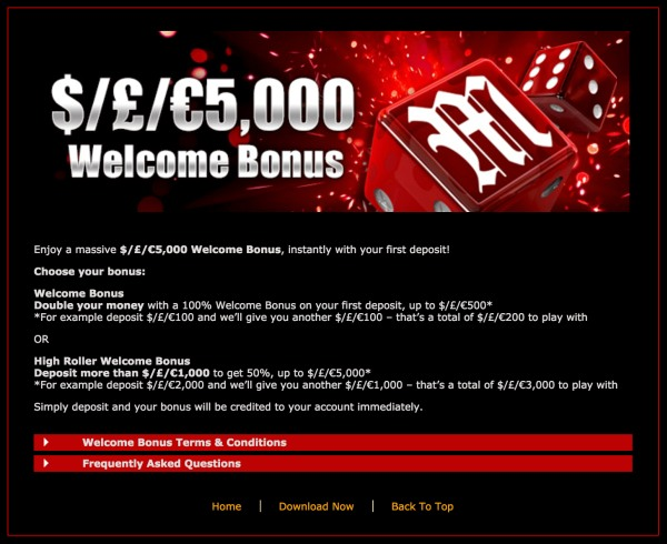 mansion casino bonuses