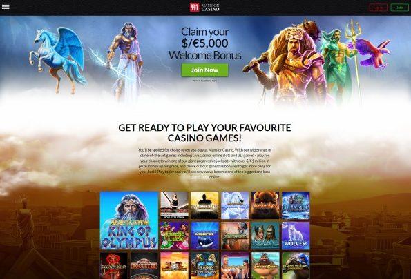mansion casino website
