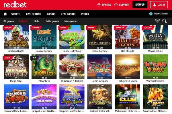 redbet casino jackpots