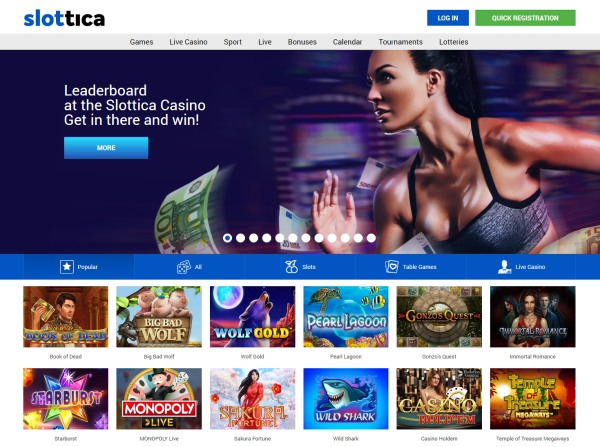 slottica casino website