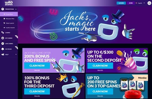wild jackpots casino bonuses