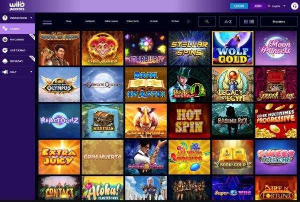 wild jackpots casino games